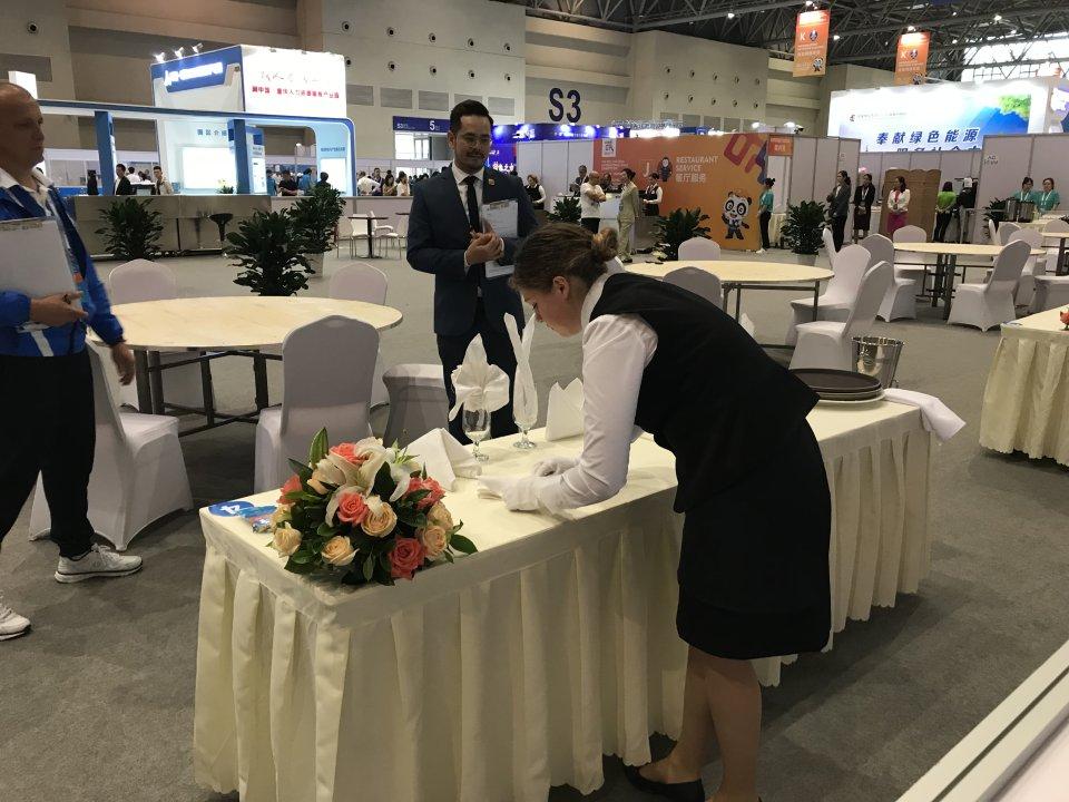 Dalyvavo tarptautiniame  profesinio meistriškumo konkurse Kinijoje