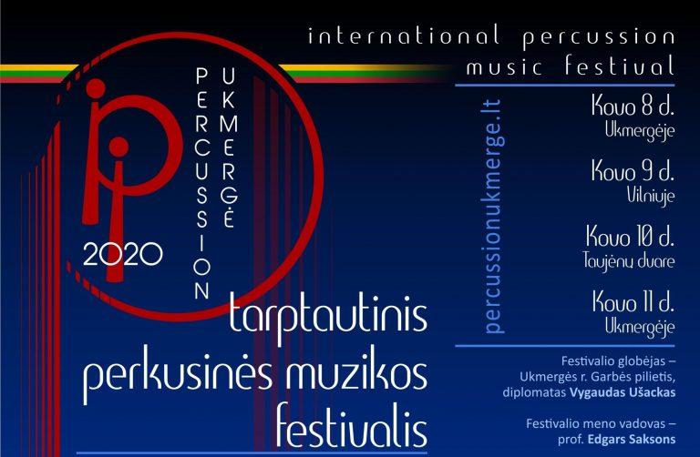 """Tarptautinis perkusinės muzikos festivalis """"Percussion Ukmerge 2020"""" kovo 8-11 d."""