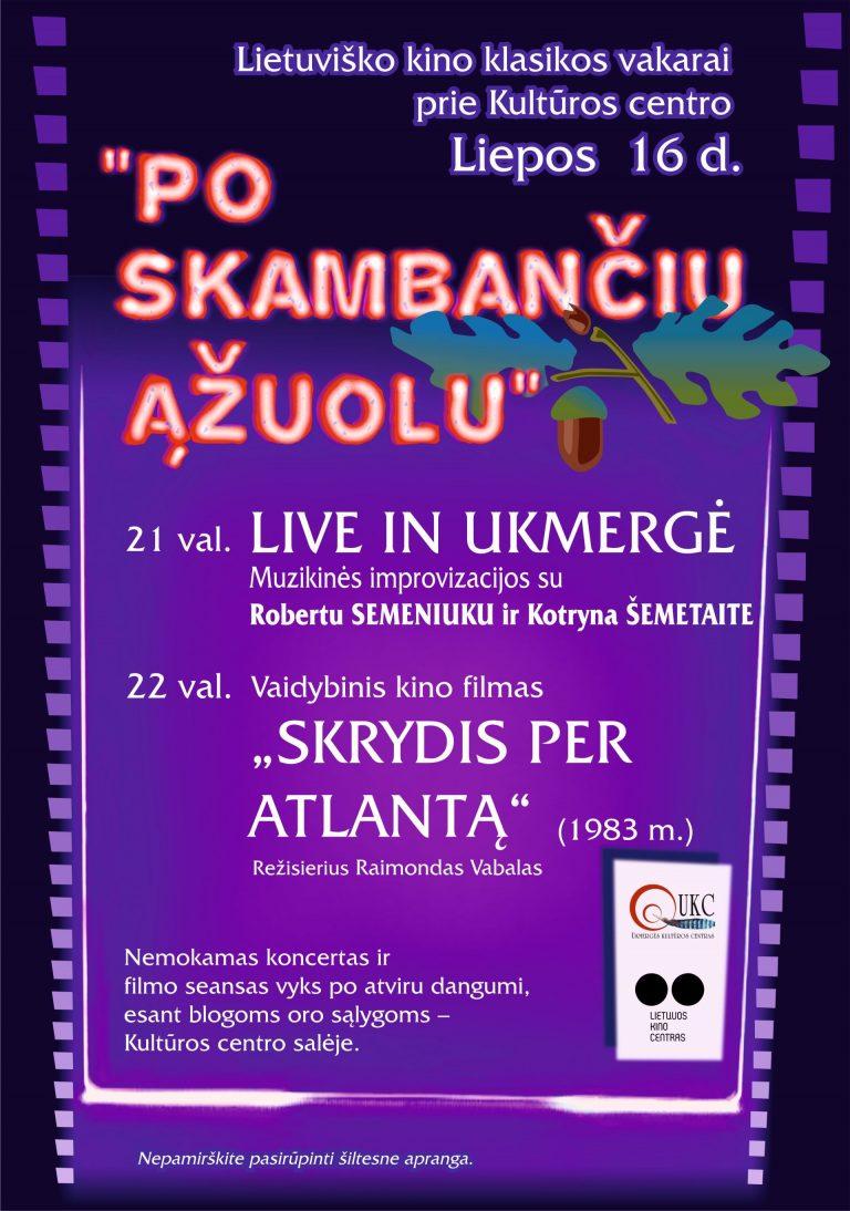 """Lietuviško kino klasikos vakare – """"Skrydis per Atlantą"""""""