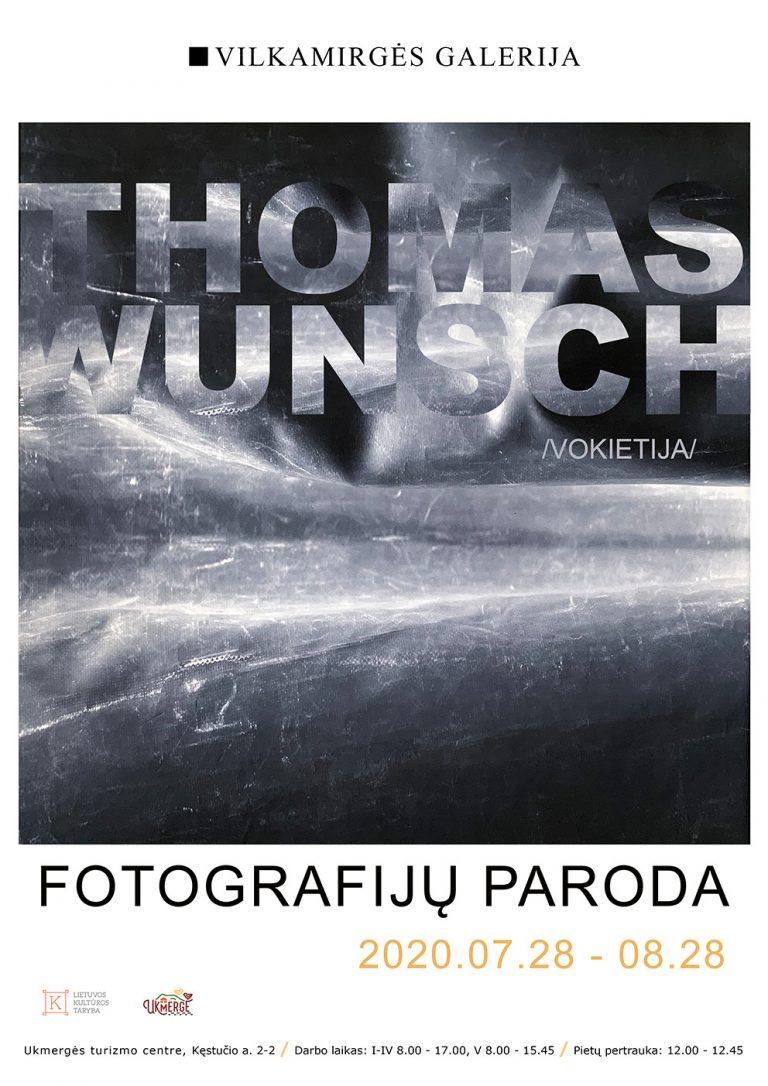 """Thomas Wunsch paroda """"Vilkamirgės"""" galerijoje"""